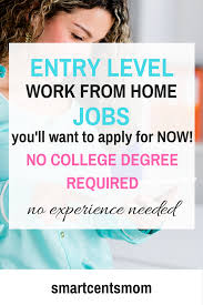 smart cents mom blog archive work from home jobs with no college