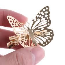 butterfly hair clip 1 pair shiny golden barrette butterfly hairpin headpiece hair clip