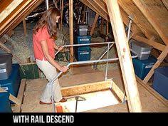 attic lift home made youtube diy projects pinterest attic