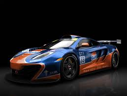 race car blue and orange homepage