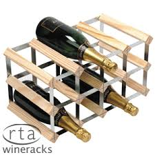 buy traditional 12 bottle wine rack at home bargains