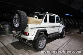 mercedes maybach g 650 landaulet showcased at iaa 2017 live