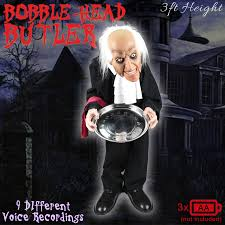 halloween bobble head witch butler