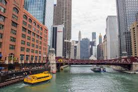 Map River North Chicago by Lasalle River North Stop Chicago Water Taxi