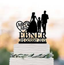 personalized wedding cake toppers family wedding cake topper with boy and groom