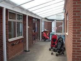 Polycarbonate Porch by 6m White Aluminium Wall Fixed Canopy Patio Cover Carport