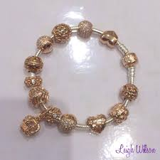 rose gold bracelet with charms images Pandora 14k gold bracelet with murano google search pretty jpg