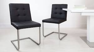Modern Real Leather Dining Chairs Genuine Soft Metal Legs For