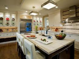 kitchen breakfast bar and pendant lighting with white kitchen
