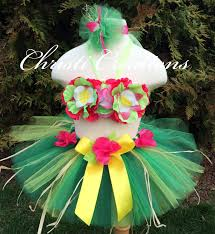hawaiian luaubaby 1st birthday tutu by christicreations