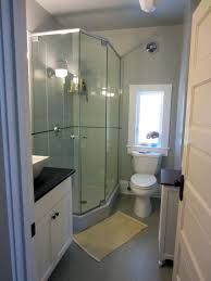 luxury bathroom glass corner shower room with wonderful white