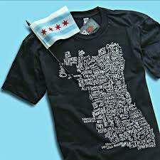 Chicago Neighborhood Map Chicago Neighborhoods Chitown Clothing