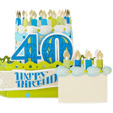 celebrate with cake pop up 40th birthday card greeting cards