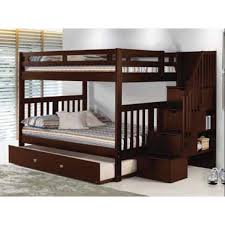 Donco Bunk Bed Donco Mission Storage Stairway Bunk Bed In