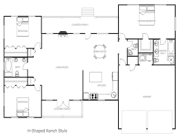 shaped ranch house plans likewise l c style floor for homes hahnow