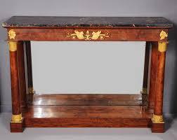 Mahogany Console Table A French Empire Ormolu Mounted Mahogany Console Table With Portor