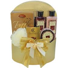 chocolate truffle spa bath and body gift basket amazon com