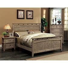 Solid Wood Bed Frames Amazon Com Furniture Of America Vine Ii Rustic Style Solid Wood