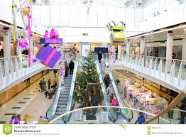 christmas decorations in shopping mall editorial image image