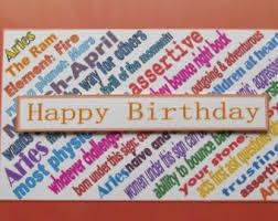 zodiac birthday card etsy