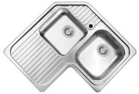 Kitchen Corner Sinks Stainless Steel by Double Kitchen Sink Stainless Steel Corner With Drainboard