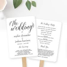 create your own wedding program wedding program fan or flat wedding program templates printable