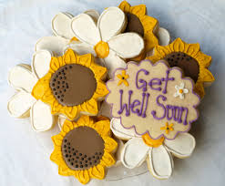get well soon cookies get well sunflower and cookies