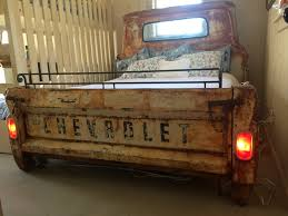 a bed made from the bed of a classic chevy pickup how cool is