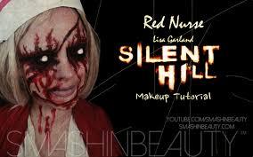silent hill red nurse lisa garland halloween sfx makeup tutorial