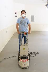 Sandpaper For Concrete Floor by Removing Paint From Concrete Floors Bower Power