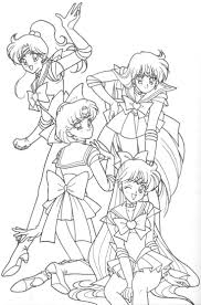 outer sailor senshi blank by sailor and scouts coloring pages
