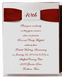 vow renewal program templates 3 40th anniversary invitation wording ideas 40th anniversary