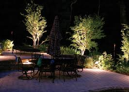 Backyard Lighting Ideas For A Party by Lamps U0026 Lighting Stunning Garden Lights With Wooden Patio Table