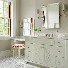 shades bathroom furniture ivory washstand with modern taper sconce with linen shades