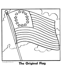 us flag coloring page first american flag coloring page funycoloring