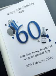 60th birthday card for men dad husband son personalised handmade