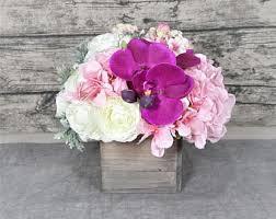 Silk Flower Centerpieces Silk Flower Arrangement Etsy