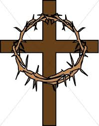 cross with crown of thorns cross clipart