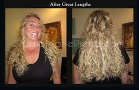 curly hair extensions before and after dayna s great lengths hair extensions before after photos