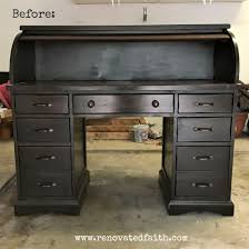 how to refinish a desk the right way to refinish a rolltop desk renovated faith