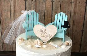 beach wedding cake toppers uk tidal treasures