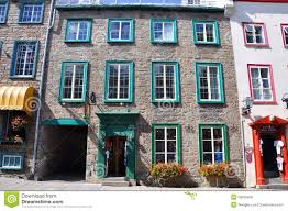 French Style House by French Style House In Old Quebec City Editorial Stock Photo