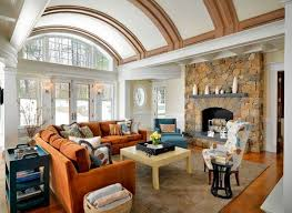 livingroom boston 15 stunning living room designs with brown blue and orange