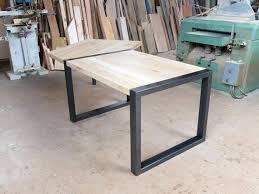 bureau en acier bureau bois acier articles similaires a bureau bois et mactal sur
