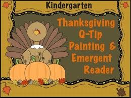 thanksgiving q tip painting emergent reader for kindergarten by
