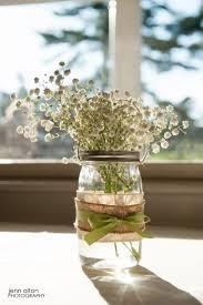 Rustic Mason Jar Centerpieces For Weddings by Best 25 Burlap Centerpieces Ideas On Pinterest Simple Wedding