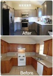 Painted Kitchen Cabinets Before And After Pictures Before And After Glazing Antiquing Cabinets A Complete How To