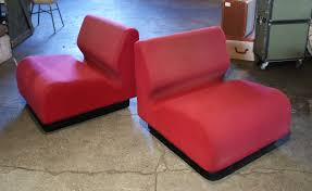 Slipper Chairs Red Slipper Chairs By Don Chadwick For Herman Miller Pair