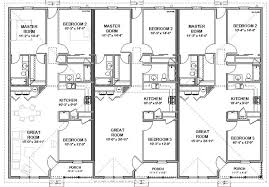 multi family house plans triplex cozy architectural plans for triplex 1 triplex house plans multi