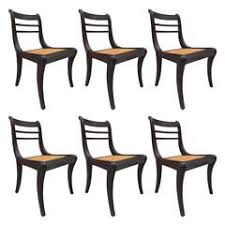Antique Regency Dining Chairs Four Mahogany Regency Scrolled Arm Dining Chairs For Sale At 1stdibs